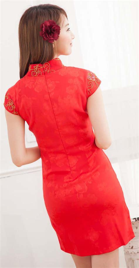 baju dress cheongsam wanita imlek  model terbaru