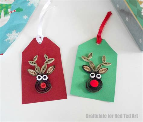 easy quilled rudolph pattern red ted arts blog