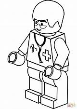 Stethoscope Coloring Pages Printable Getcolorings Doctor sketch template
