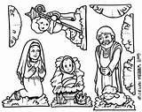 Nativity Coloring Printable Pages Scene Jesus Cut Christmas Mary Figures Manger Colouring Children Birth Creche Template Colour Sheets Paper Pdf sketch template
