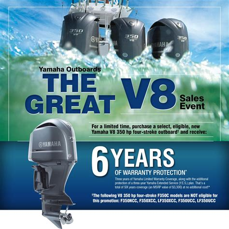 Yamaha Boats Extended Warranty by Yamaha Great V8 Warranty Promotion Extended Bluewater