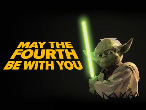 Mat The 4th Be With You - yoda may the 4th be with you by spencer on dribbble