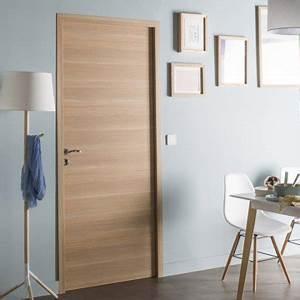 bloc porte revetu madrid 2 artens h204 x l63 cm With porte de garage enroulable et porte intérieure sans bloc porte