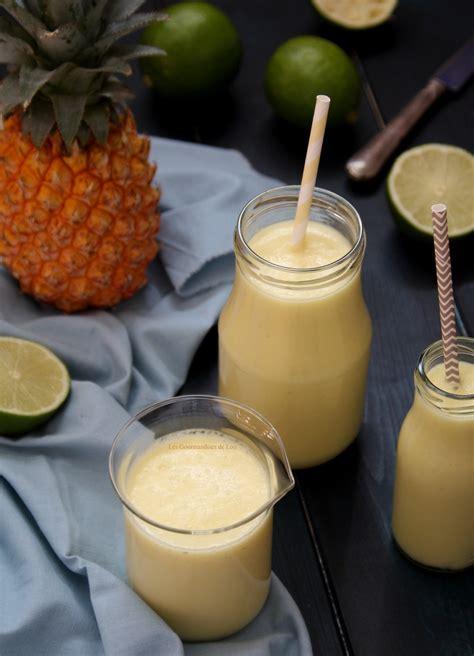 smoothie ananas coco citron vert les gourmandises de lou