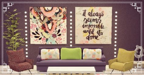 big paintings sets  sims luxury sims  updates