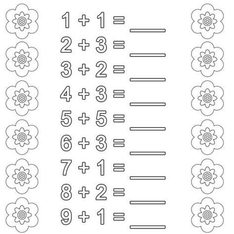 Die plusaufgaben der 1+1 tafel im zr bis 10. Kostenlose Malvorlage Rechnen lernen: Addition Arbeitsblatt 1 zum Ausmalen