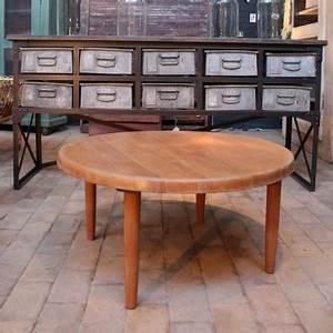 Table Basse Ancienne : meubles industriels mobilier industriel comptoir ~ Dallasstarsshop.com Idées de Décoration