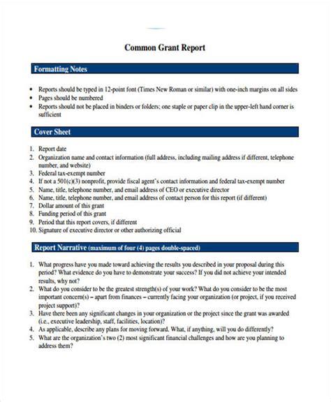 report template 10 grant report templates free premium templates