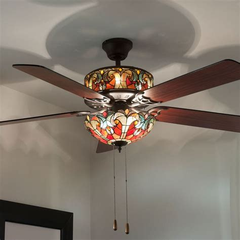 hton bay tiffany style ceiling fans 16 best lighting ideas images on pinterest