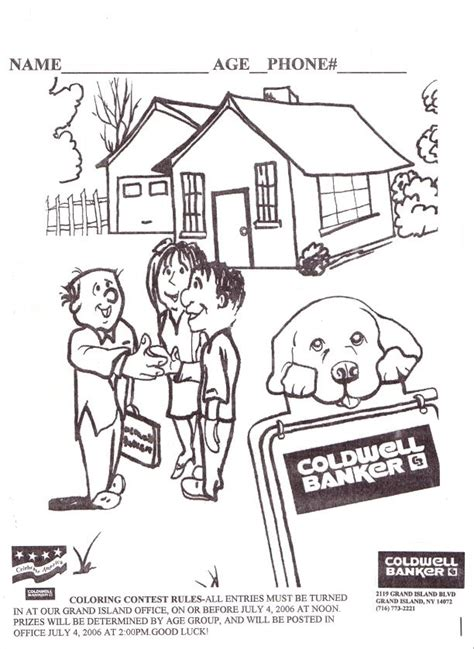 Realtor Coloring Pages