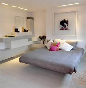 Chambre Gris Blanc : murs et ameublement chambre tout en gris tendance ~ Melissatoandfro.com Idées de Décoration
