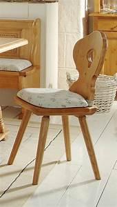 Stühle Im Landhausstil : stuhl bozen esszimmerstuhl im landhausstil fichte massivholz lackiert ~ Frokenaadalensverden.com Haus und Dekorationen