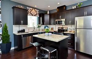 dark kitchen cabinets with light countertops 2135