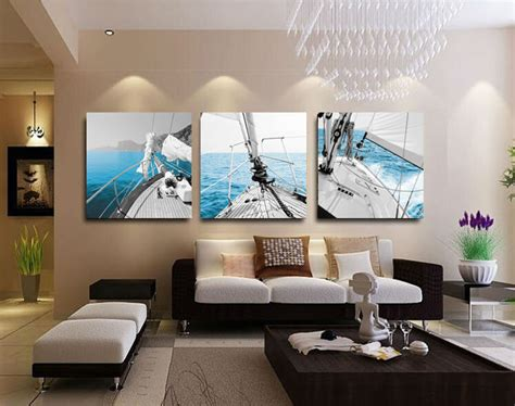 3 panel sailing home decorative canvas painting living room wall picture paint on canvas