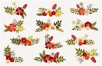 Floral Winter Bouquets Menu Cards Vecteezy Matite