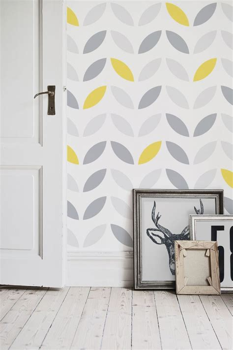 yellow grey abstract wallpaper pattern design