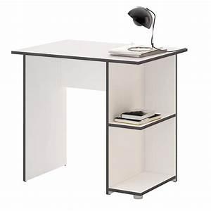 Schreibtisch Weiß Grau : schreibtisch kuba in wei grau mit 2 ablagefl chen caro m bel ~ Frokenaadalensverden.com Haus und Dekorationen