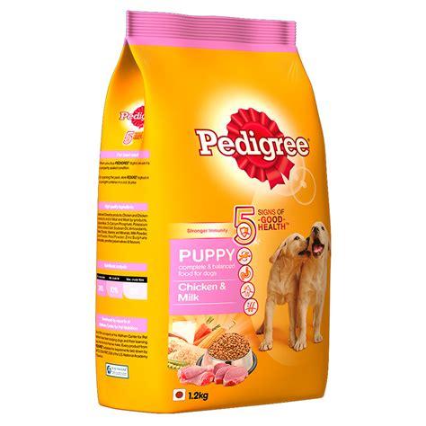 pedigree dog food puppy chicken milk  kg dogspot
