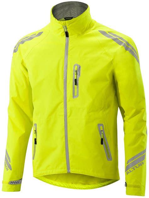 yellow cycling jacket altura night vision evo waterproof cycling jacket hi vis