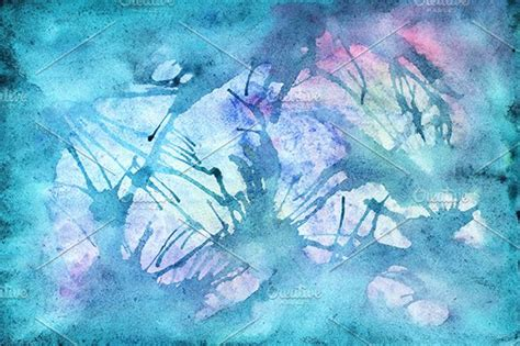 Watercolor water abstract texture ~ Illustrations