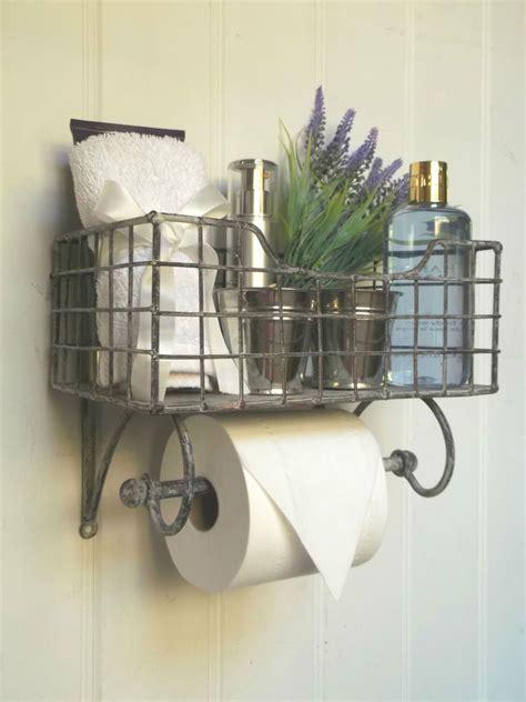shabby chic vintage french toilet roll holder storage unit