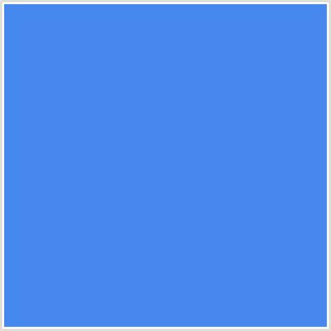 cornflower color 4788ee hex color rgb 71 136 238 blue cornflower blue