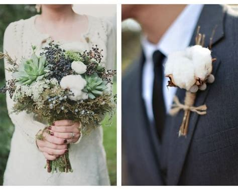 cotton wedding bouquet inspiration