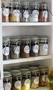 10 good diy spice storage ideas gleamitup pantry With kitchen cabinets lowes with avery sticker paper