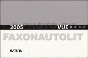 2005 Saturn Vue Repair Shop Manual Original 4 Volume Set