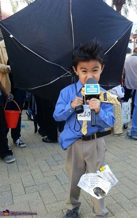 weather halloween costumes hurricane costume diy weatherman reporter kid homemade clothes boys things fun funny outfit already should babies popsugar
