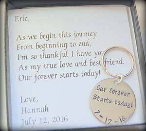 our forever starts today from bride to groom gift to fiance With gifts for husband wedding day