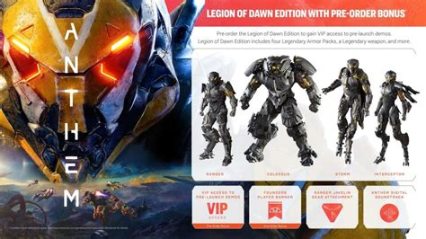 biowares anthem release date  pre order guide ps