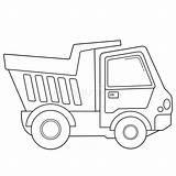 Construction Coloring Truck Outline Dump Pagina Colorazione Vehicles Cartoon Veicoli Costruzione Carrello Dei Caminhao Libro Animati Scaricatori Struttura Cartoni Della sketch template