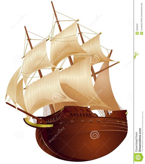 colonial ship stock vector image  boats american