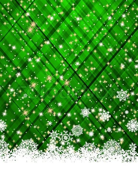 green christmas background vector illustration stock