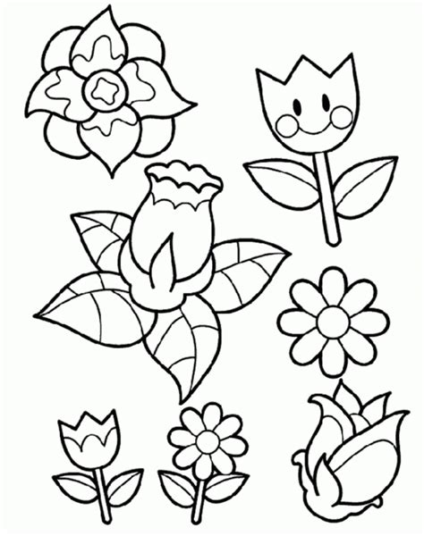 Coloring Flower by Printable Flower Coloring Pages Coloring Home
