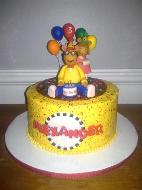 arthur birthday cake cakecentralcom