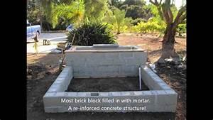 My First Brick Block Wall Veneer Stone Planter - YouTube