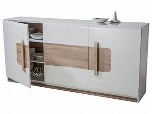 Buffet Blanc Pas Cher : buffet 3 portes levi coloris blanc buffet conforama pas cher ventes pas ~ Teatrodelosmanantiales.com Idées de Décoration