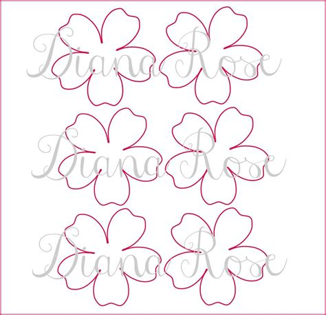 paper flower templates pdf printable paper templates diy paper flowers printable