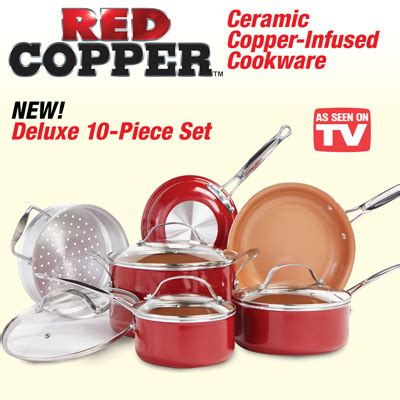 red copper ceramic cookware set  pc  collections