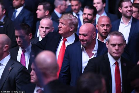 trump ufc donald dana madison president garden square event fight york masvidal jorge rally booed maga his attends security arrives