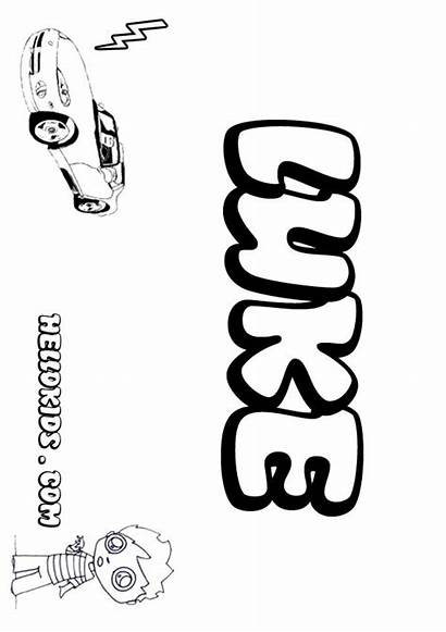 Luke Coloring Pages Sheets Bryan Template Names