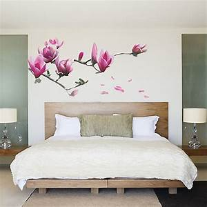 magnolia flowers removable wall sticker decals mural art With decorative wall stickers
