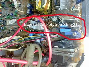 Kerusakan Tv Polytron Slim 21 Matot Bersuara Cit