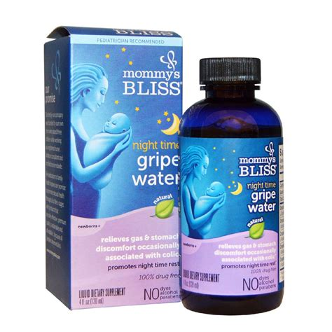 Mommys Bliss Night Time Gripe Water 4 Oz Carlo Pacific