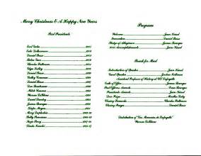 church wedding programs lafayette genealogical society christmas banquet program