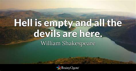 william shakespeare hell  empty    devils