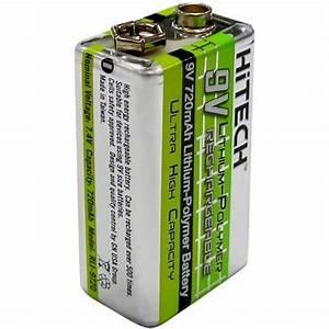 9 Volt Batterie : rechargeable 9 volt lithium polymer battery ~ Markanthonyermac.com Haus und Dekorationen