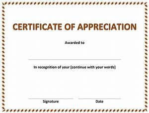 Free Certificate Template Free Certificate Of Appreciation Template Best Professional Templates